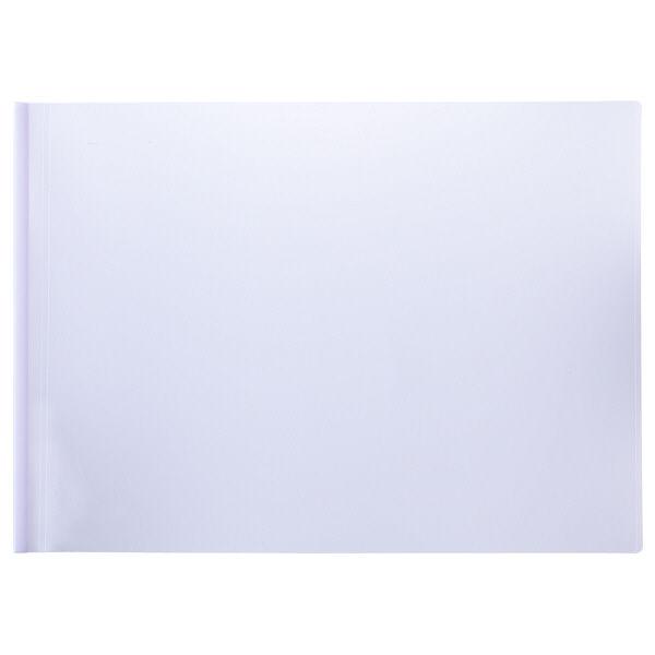 レール式クリアホルダーA3横10冊 白