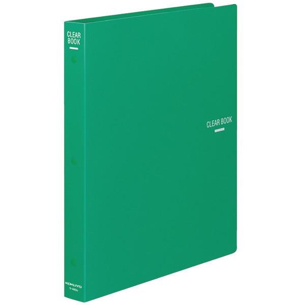 コクヨ クリヤーブック(替紙式) A4タテ 30穴 23ポケット 緑 ラ-460G 1箱(10冊入)