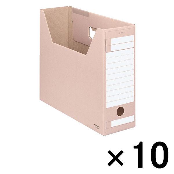 コクヨ ファイルボックス-FS Dタイプ A4ヨコ 背幅102mm ピンク A4-LFD-P 1セット(10冊)