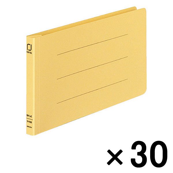 コクヨ 統一伝票用フラットファイル樹脂製とじ具 B4 1/3横 黄 フ-V49Y 1セット(30冊)
