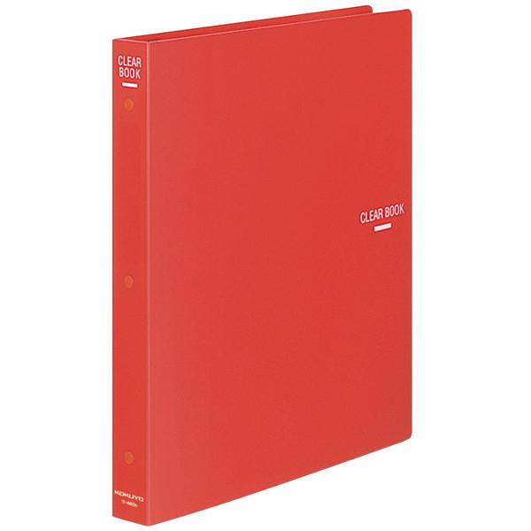 コクヨ クリヤーブック(替紙式) A4タテ 30穴 23ポケット 赤 ラ-460R 1箱(10冊入)