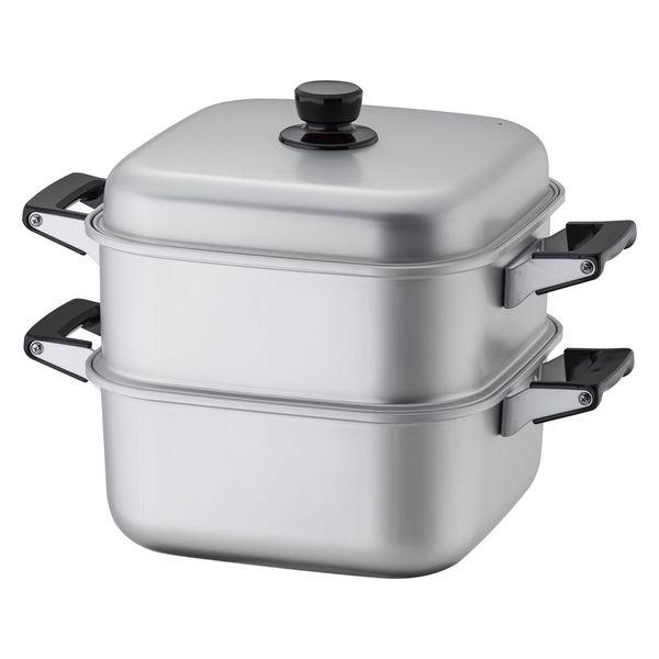 <LOHACO> アカオアルミ アルマイト角型蒸器 28cm 一重 (取寄品)