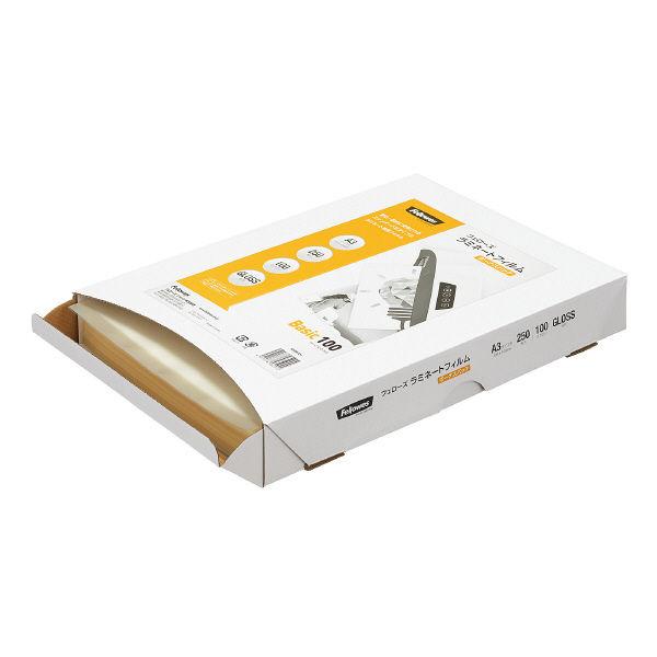 フェローズ パウチフィルム 100ミクロン ベーシック ボーナスパック A3サイズ用 5403801 1箱(250枚入)