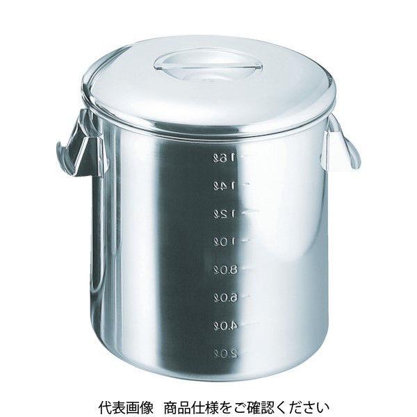 杉山工業 スギコ 18-8目盛付深型キッチンポット 内蓋式 140x140 SH-4614D 1個 332-0308(直送品)