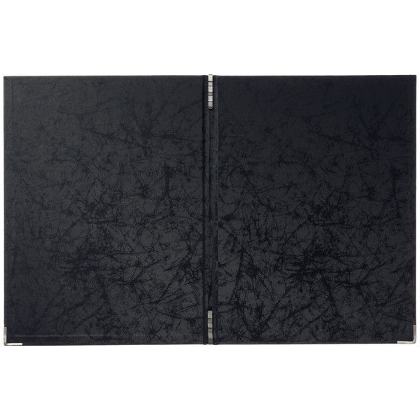 スマイル 光沢メニューファイル表紙 黒 P-735530 1セット(5冊入)