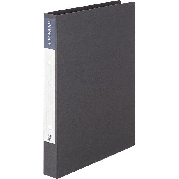 ビュートン エコノミーリングファイル2穴 A4タテ ダークグレー 1セット(30冊:10冊入×3箱)