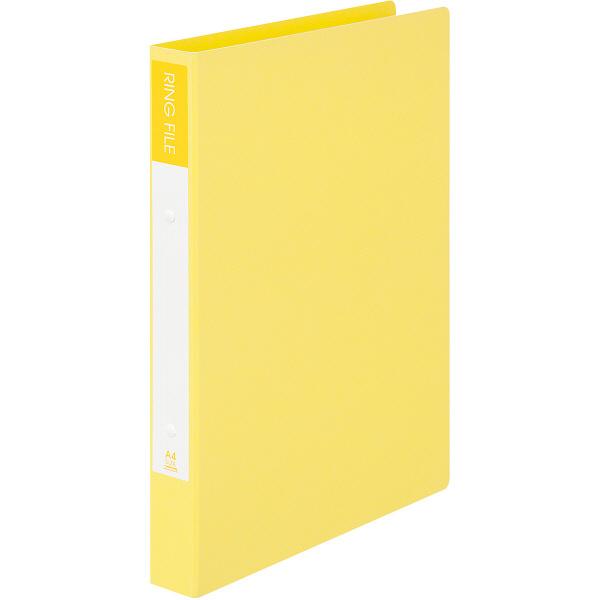 ビュートン エコノミーリングファイル2穴 A4タテ イエロー 1セット(30冊:10冊入×3箱)