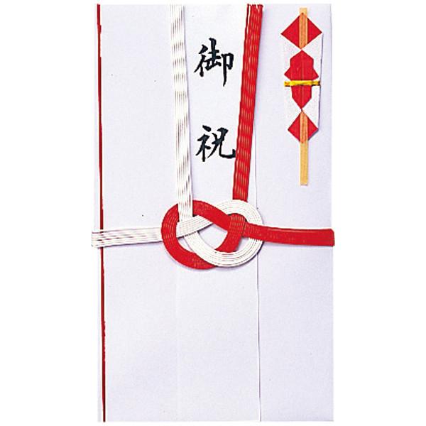 今村紙工 御祝紅白7本 短冊3枚付 E-651 1パック(5枚入)