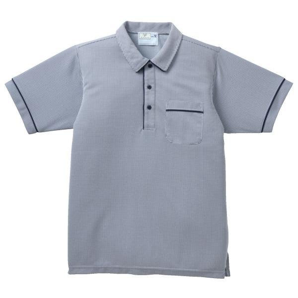 アスクル トンボ 介護ユニフォーム キラク 男女兼用ニットシャツ cr123