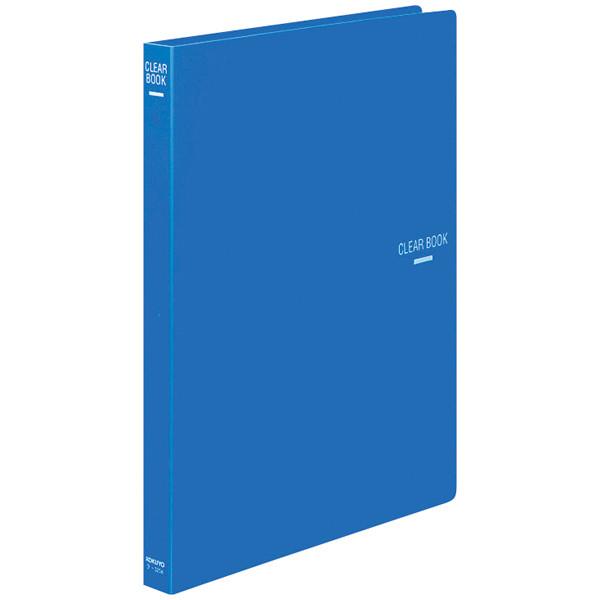 クリヤーブック30穴替紙式18P A4青