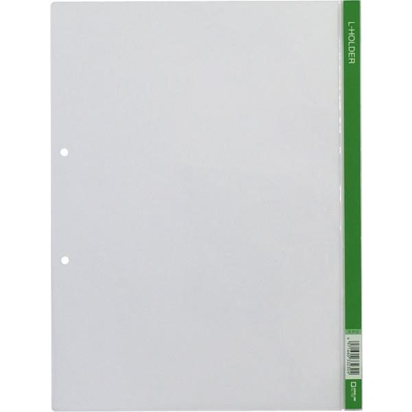 Lホルダー2穴(A4)緑 730 1箱(50枚:5枚入×10袋)