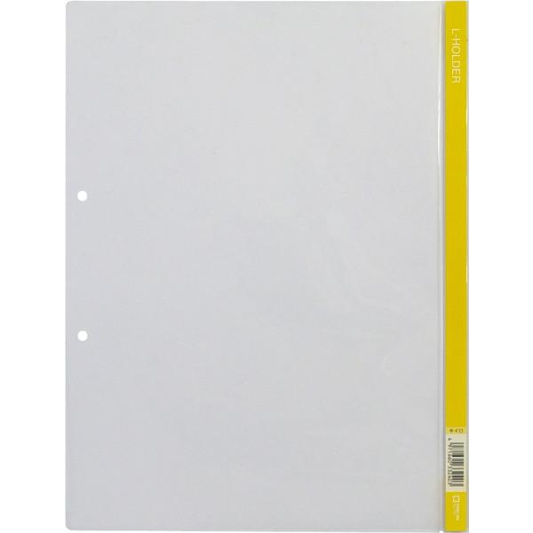 Lホルダー2穴(A4)黄 730 1箱(50枚:5枚入×10袋)