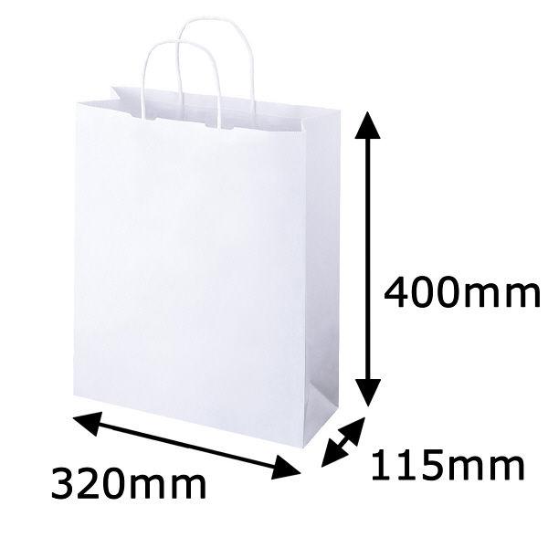 丸紐 手提げ紙袋 白 L 50枚