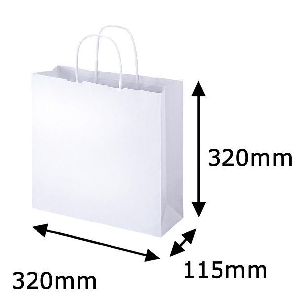 丸紐 手提げ紙袋 白 M 50枚
