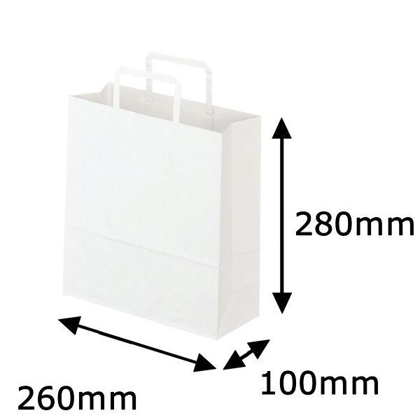 平紐 手提げ紙袋 白 S 50枚