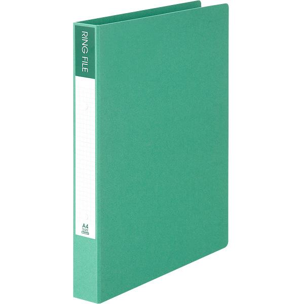 ビュートン エコノミーリングファイル2穴 A4タテ グリーン 1箱(10冊入)