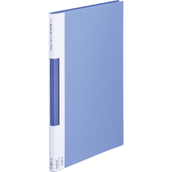 キングジム サイドインクリアーファイルカラーベース A3タテ 40ポケット 青 157C