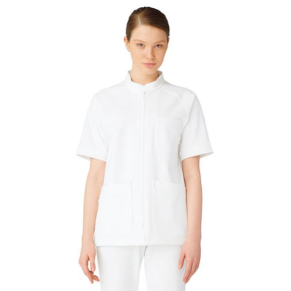 ルコックスポルティフ メンズセンターファスナージャケット ホワイト L QNM1501(UQNM1501) VAN L 1枚 (直送品)