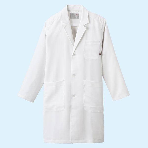 ルコックスポルティフ メンズドクターコート(シングル 診察衣) UQM4501 ホワイト EL