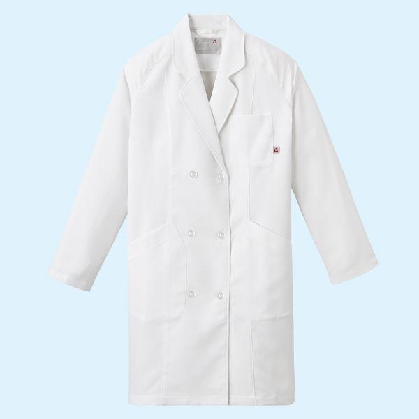 ルコックスポルティフ レディスドクターコート(診察衣) ダブル UQW4102 ホワイト LL