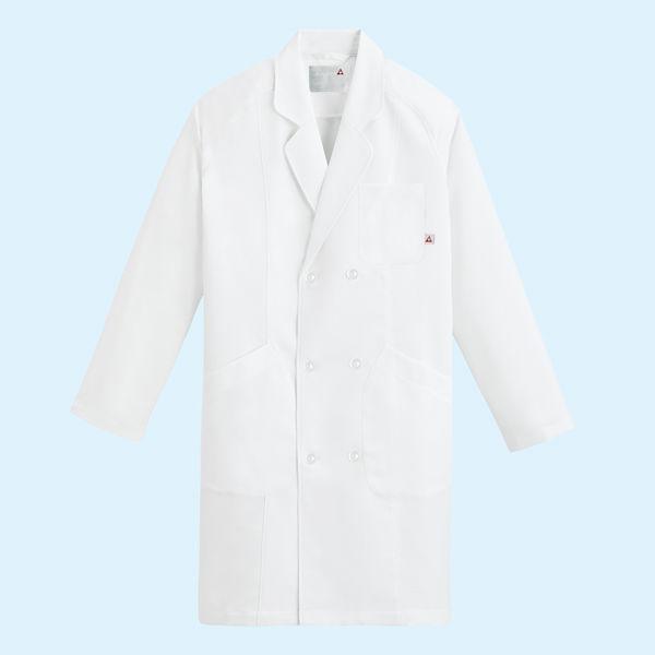 ルコックスポルティフ メンズドクターコート(ダブル 診察衣) UQM4502 ホワイト EL