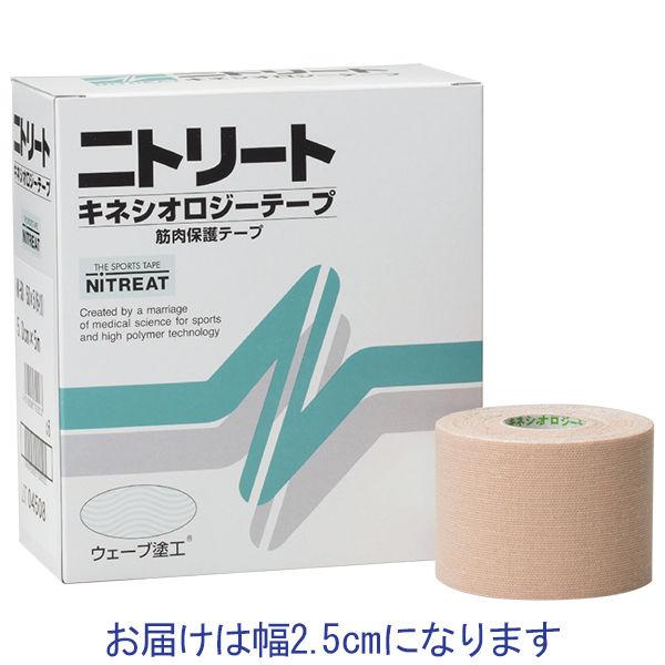 ニトムズ ニトリートキネシオロジーテープ(汎用タイプ) 25mm×5m NK-25 1箱(12巻入) (取寄品)