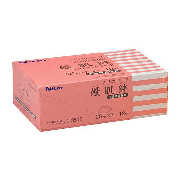 ニトムズ 優肌絆プラスチック 25mm×7m 3512 1箱(12巻入)