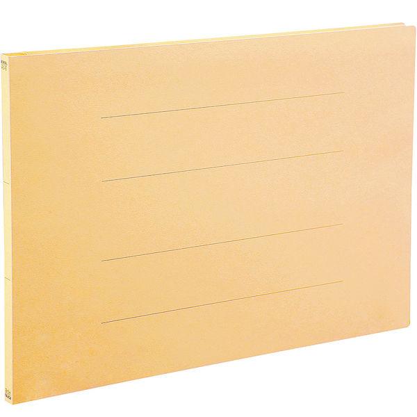 アスクル フラットファイル A3ヨコ イエロー エコノミータイプ 10冊