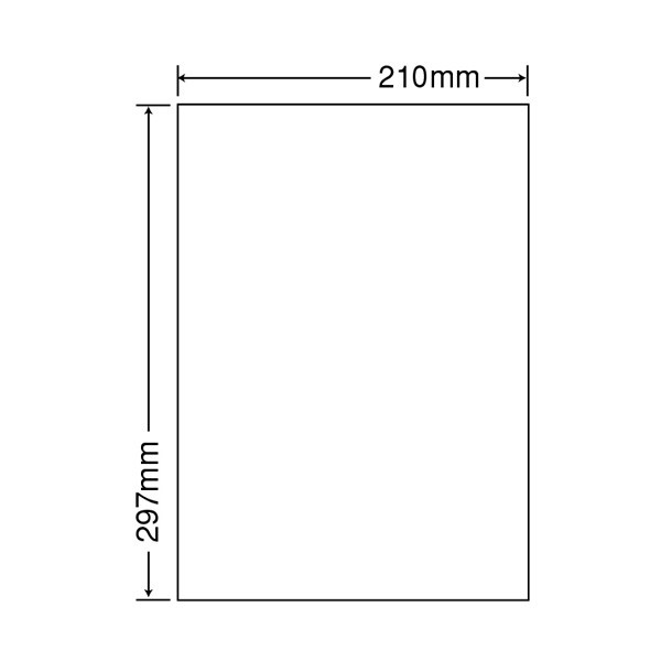 東洋印刷 ナナワード粘着ラベル(ワープロ&レーザー用ラベル) ノーカット CL7 A4 1袋(100シート入)