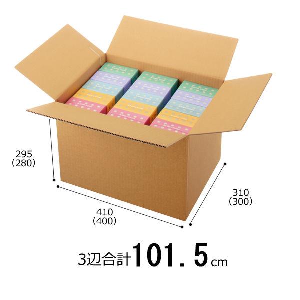 アスクル 無地ダンボール箱 B4ワイド×高さ95mm 1セット(60枚:30枚×梱包)