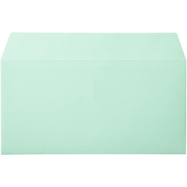 カラー封筒 長3横型 グリーン 100枚