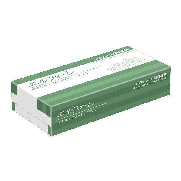 ペーパータオル 大王製紙 エルフォーレ 大判ダブル 623041 1箱(25個入)