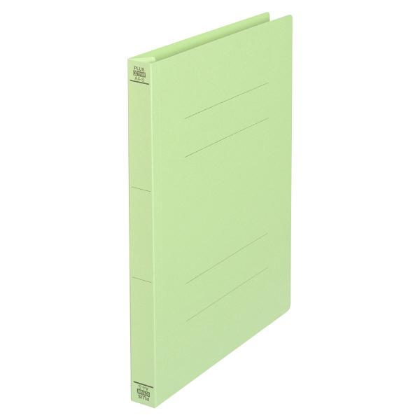 プラス フラットファイル厚とじ A4タテ 100冊 グリーン No.021NW 樹脂製とじ具