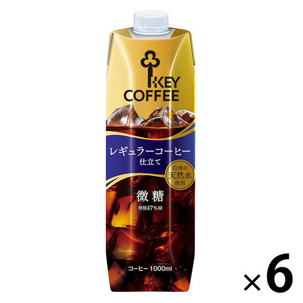 リキッドコーヒー 微糖 1L 6本