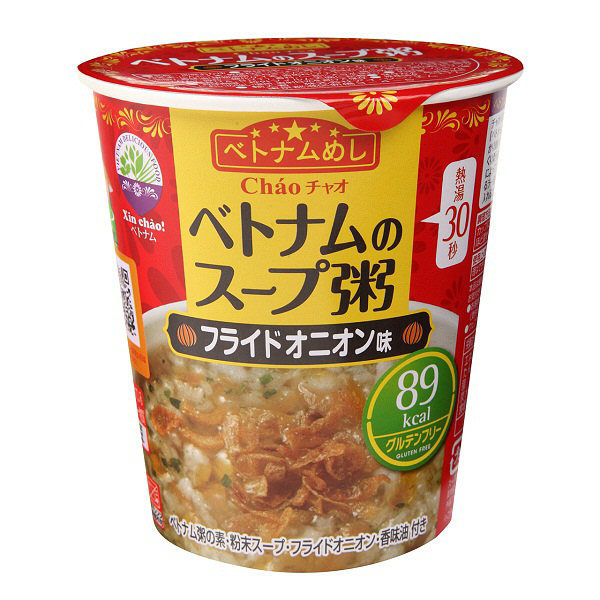 ベトナムのスープ粥 フライドオニオン3食
