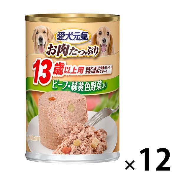 愛犬元気13歳以上ビーフ緑黄色野菜24缶
