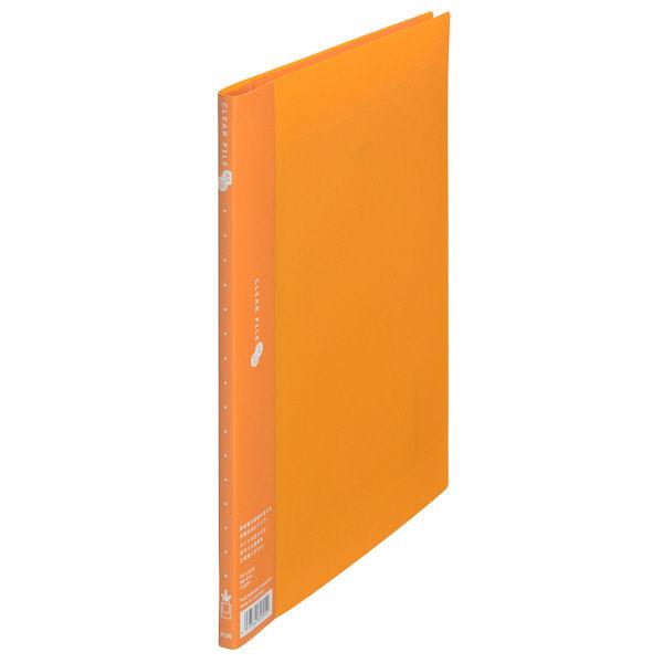 プラス スーパーエコノミークリアーファイル A4タテ 10ポケット イエロー FC-121EL 88414 1箱(10冊入)