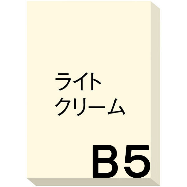 アスクル カラーペーパー B5 ライトクリーム 1箱(500枚×10冊入)