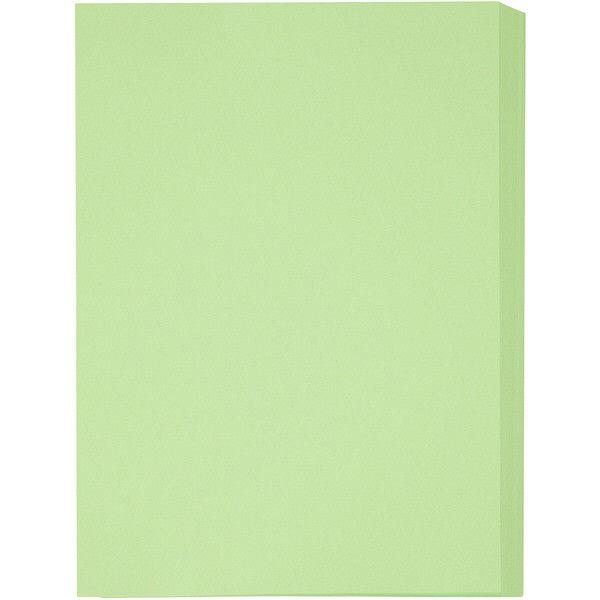 アスクル カラーペーパー厚口グリーン B4 1セット(250枚×3冊入)