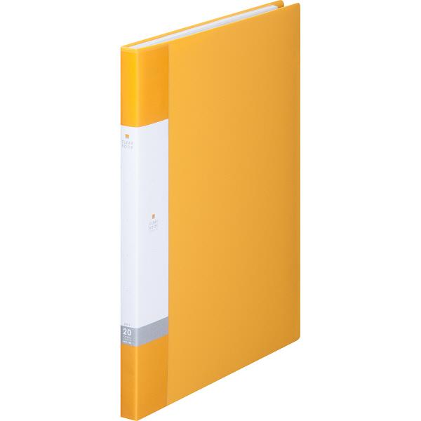 リヒトラブ リクエスト クリヤーブック A4タテ 20ポケット 黄 G3201 業務用パック 1箱(10冊入)