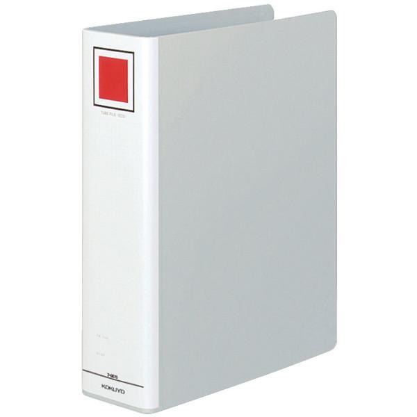 コクヨ チューブファイル(エコ) A4タテ とじ厚70mm 2穴 シルバー フ-E670C 1箱(20冊)