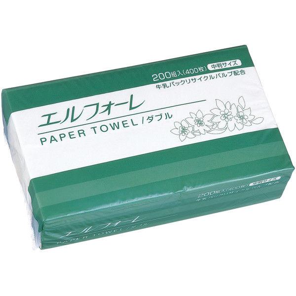 大王製紙 エルフォーレペーパータオルダブル業務用パック 1箱(30個入)