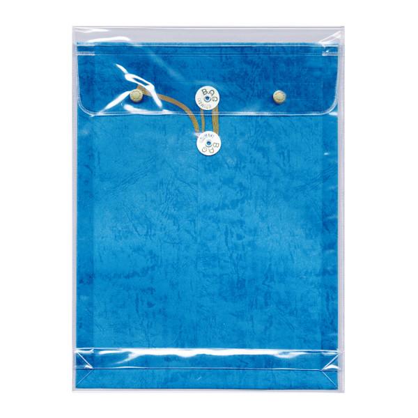 ビニールパッカー 角2 ブルー