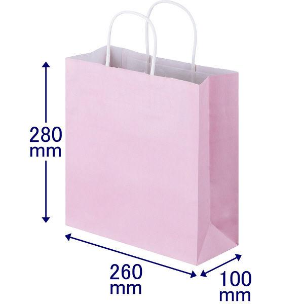 丸紐 手提げ紙袋 ピンク S 300枚