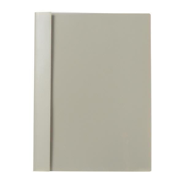 プラス P.P.レポートファイル A4 ライトグレー FL-101RT 82002 1箱(100冊:10冊入×10袋)