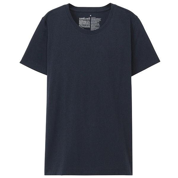 5236a5fe02f58 無印 丸首 半袖Tシャツ 婦人 S 紺. 無印良品 オーガニックコットンクルーネック ...