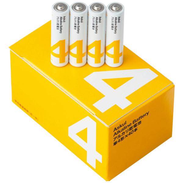 アルカリ単4乾電池 40本