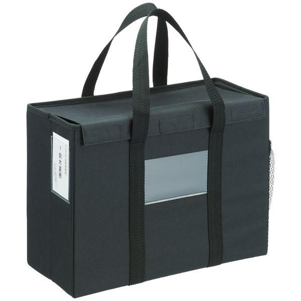 オフィスミーティングバッグ A4フタ付 黒 10個