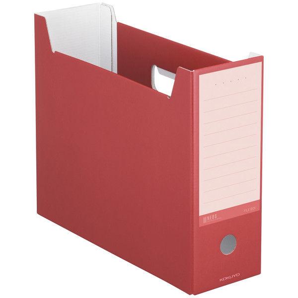 コクヨ ファイルボックスネオス<NEOS> カーマインレッド A4-NELF-R 4冊