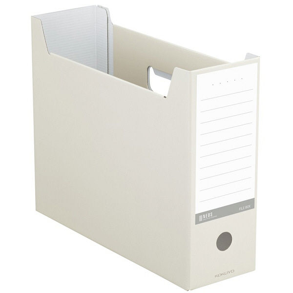 コクヨ ファイルボックスネオス<NEOS> オフホワイト A4-NELF-W 12冊